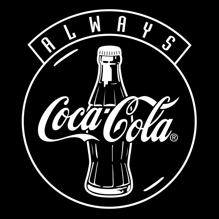 Coca Cola logo black
