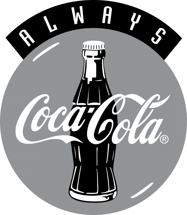 Coca Cola logo grey