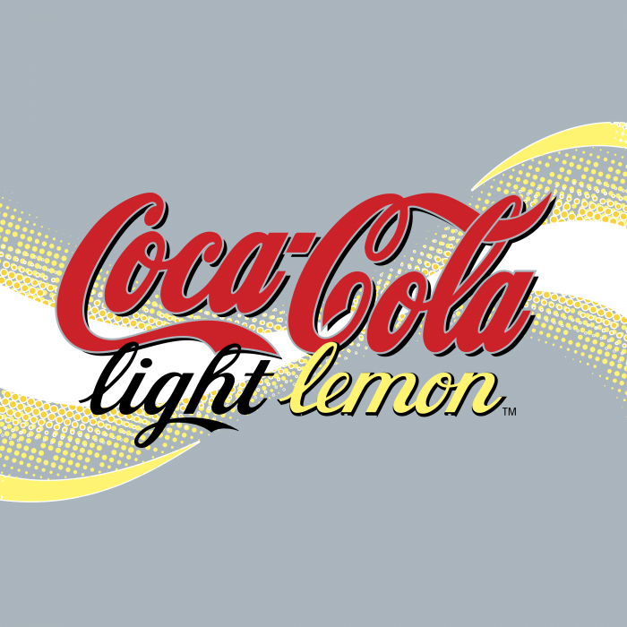Coca Cola logo lemon
