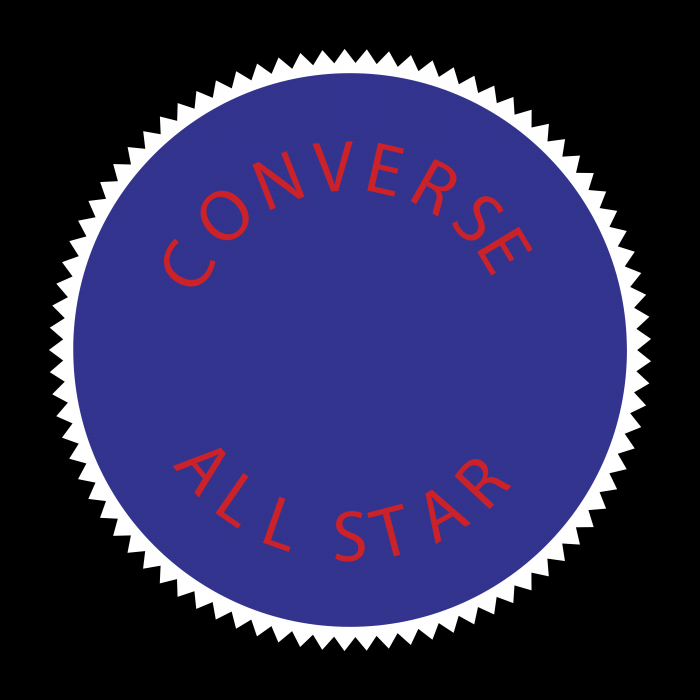 Converse All Star logo violet