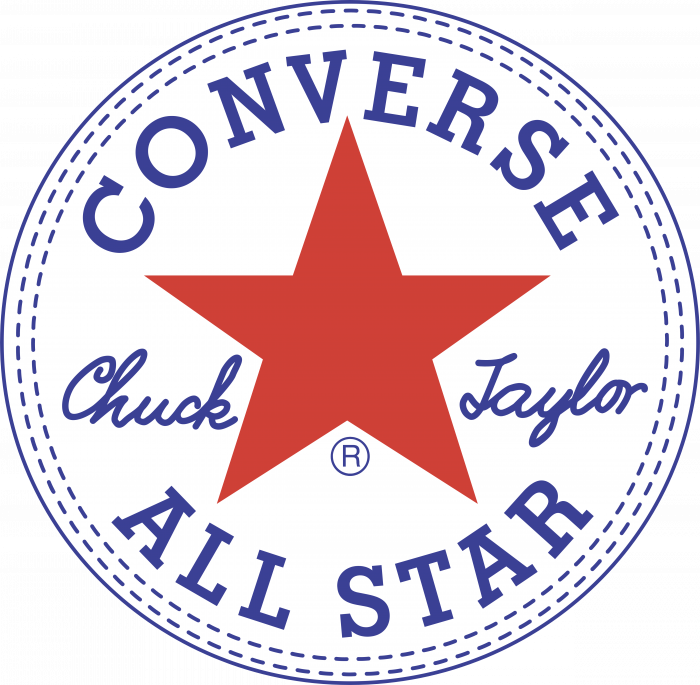 Converse All Star logo white