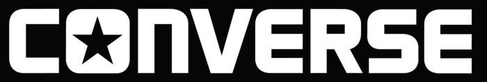 Converse logo - black background