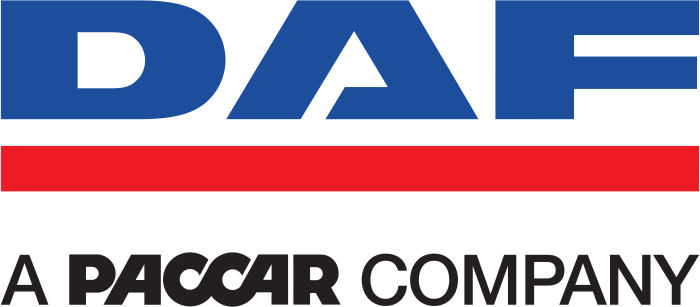DAF logo with tagline - a paccar company
