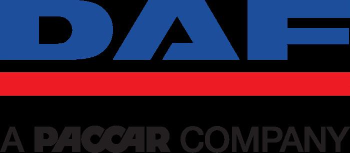 DAF logo with tagline - a paccar company
