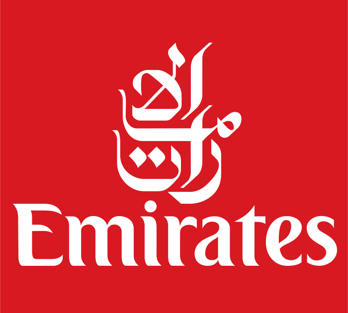 Emirates Airlines logotype, emblem, logo, 4