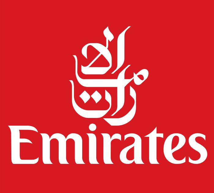 Emirates Airlines logotype, emblem, logo, 4