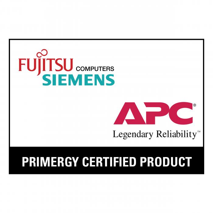 Fujitsu Siemens Computers APC logo white