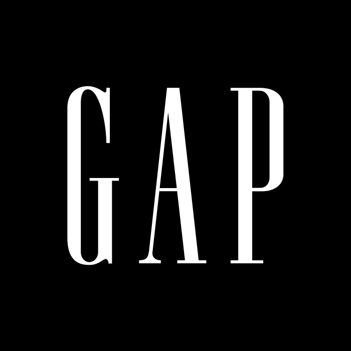 Gap logo, black