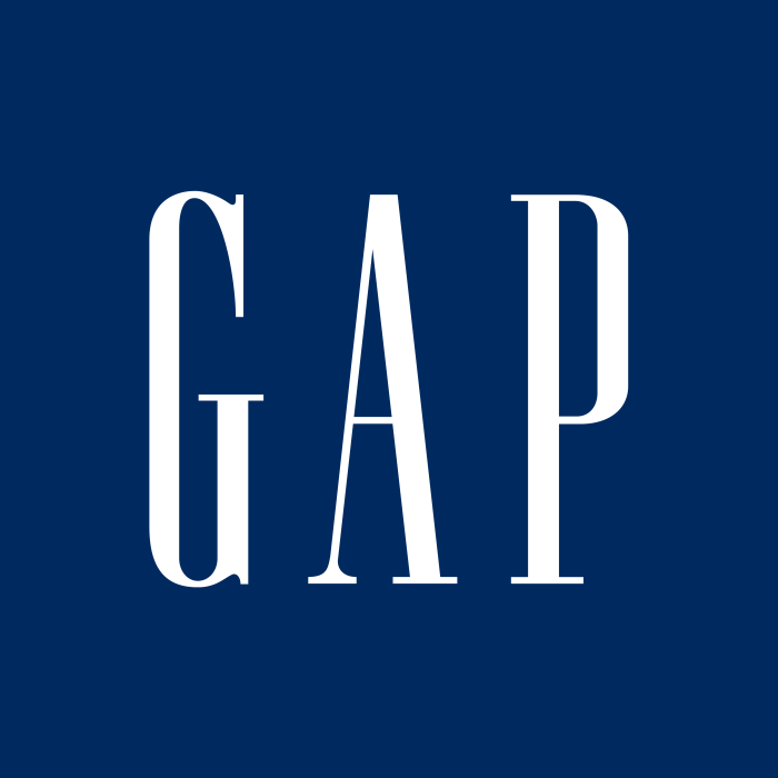 Gap logo, blue