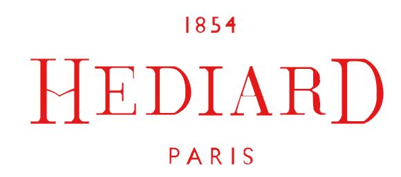 Hediard logo white, logotype, emblem