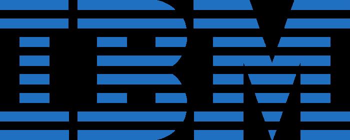 IBM logo, logotype, emblem