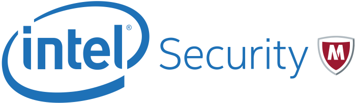 Intel Security McAfee logo, logotype, emblem