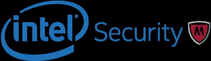 Intel Security McAfee logo, logotype, emblem