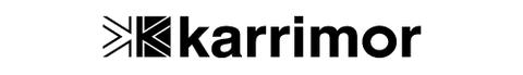 Karrimor logo, logotype, emblem, white