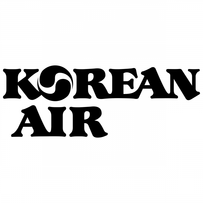 Korean Air logo black