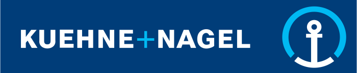 Kuehne Nagel logo - blue background