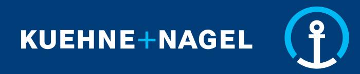 Kuehne Nagel logo - blue background