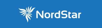 Nordstar Airlines logo - blue background