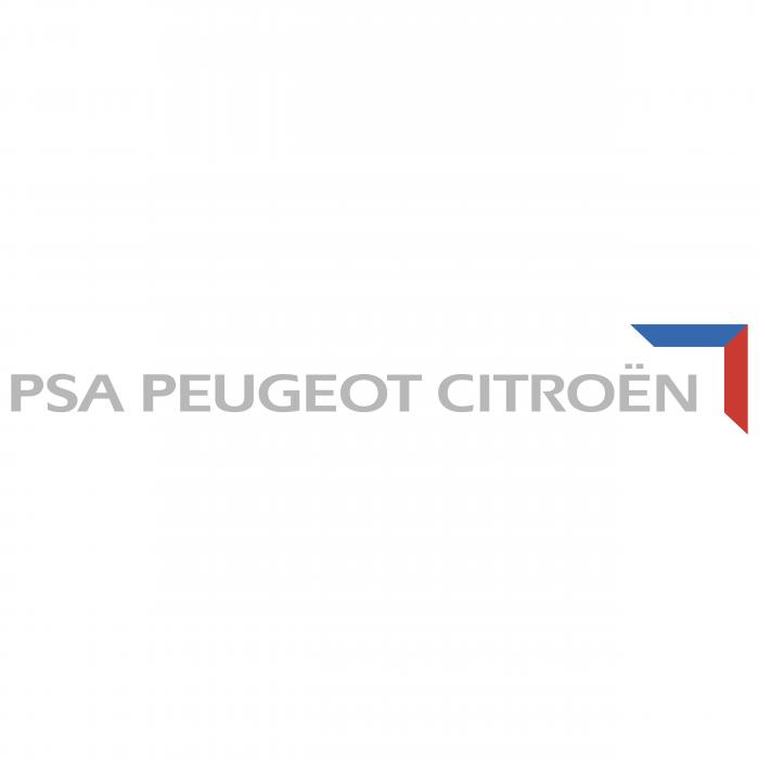 PSA Peugeot Citroen logo grey