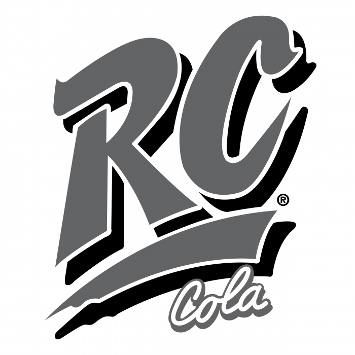 RC Cola logo grey