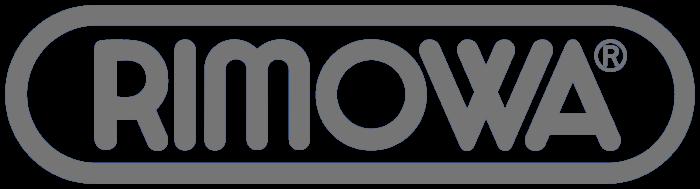 Rimowa brand, gray logotype