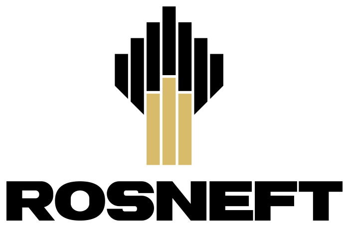 Rosneft logo, emblem, logotype
