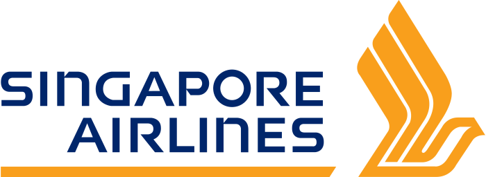 Singapore Airlines logo, emblem, logotype, bright