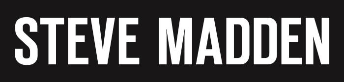 Steve Madden logo, black color background