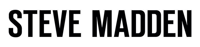 Steve Madden logo, white color background