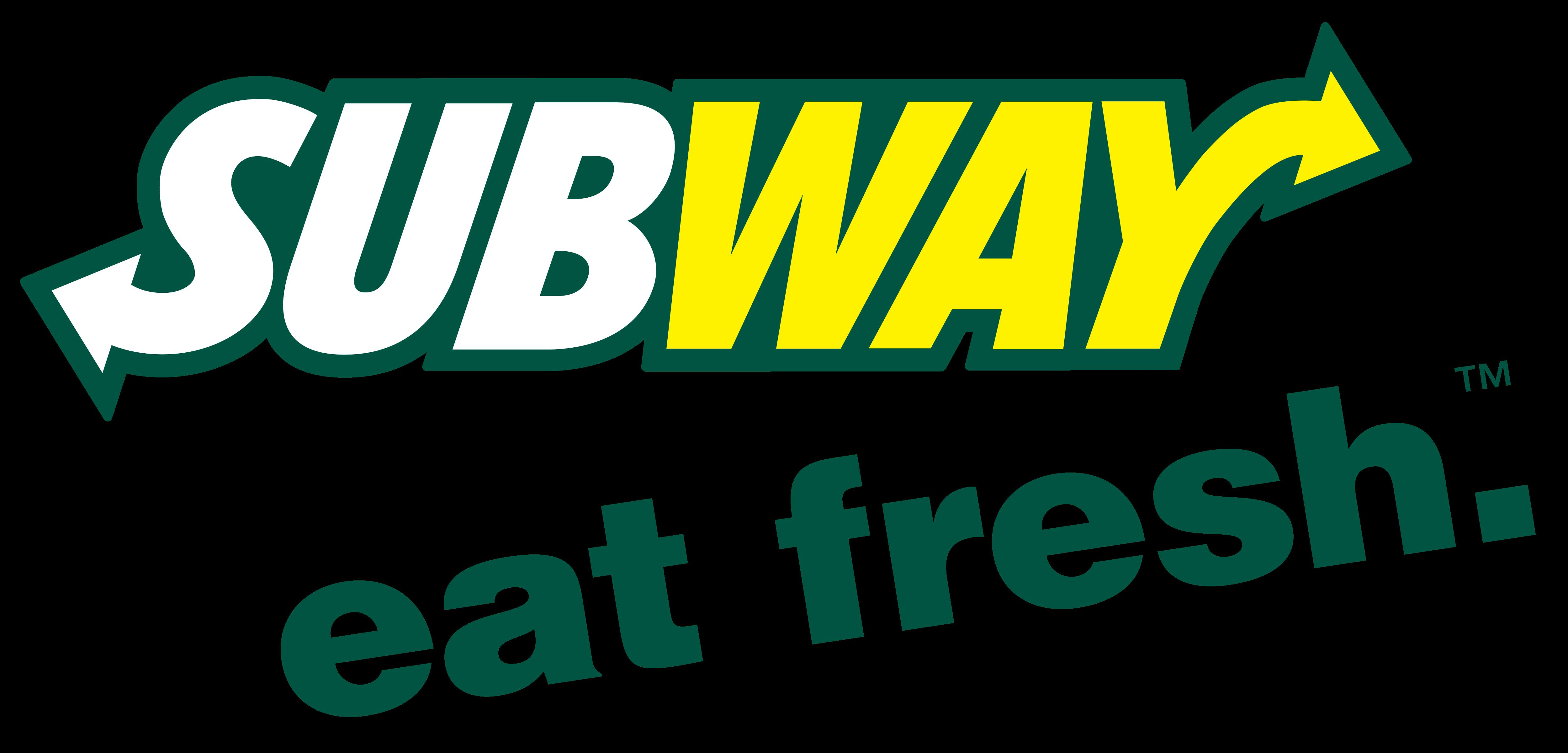 Subway Restaurant logo with slogan - Eat Fresh