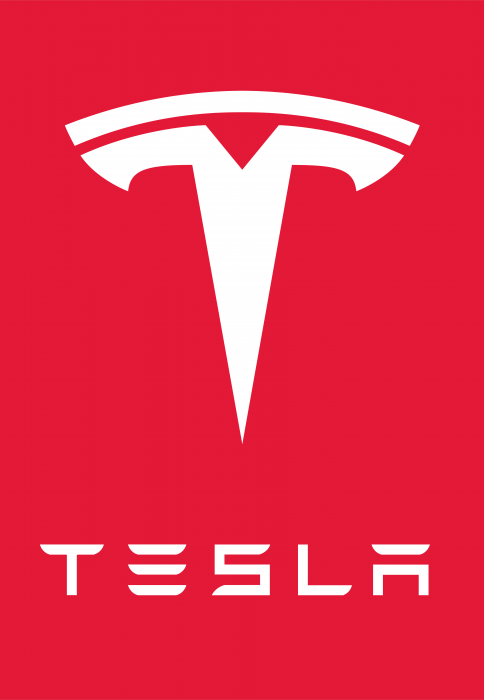 Tesla Motors logo red