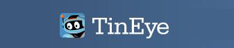 TinEye logo blue