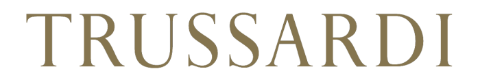 Trussardi logo, golden