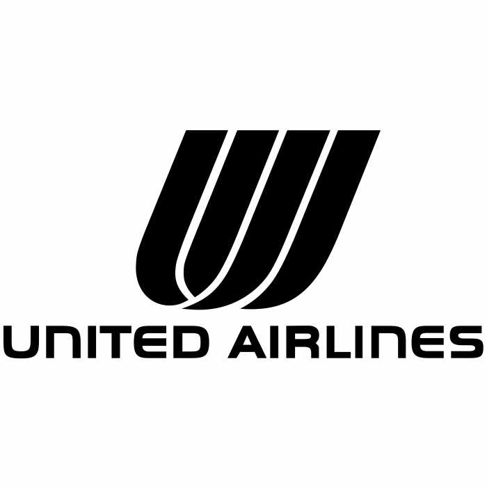 United Airlines logo black
