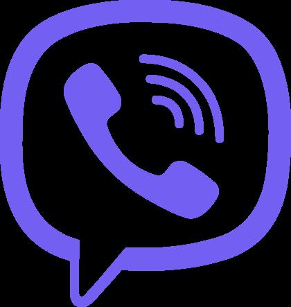 Viber white icon Logo 2018