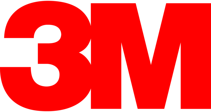 3M logo, logotype, full red