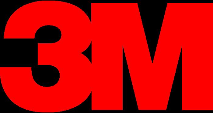 3M logo, logotype, full red