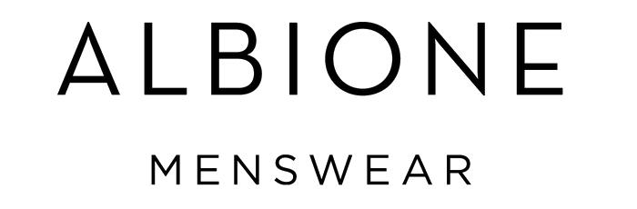ALBIONE Menswear logo, logotype, wordmark