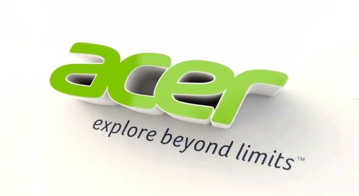 Acer 3D logo and slogan