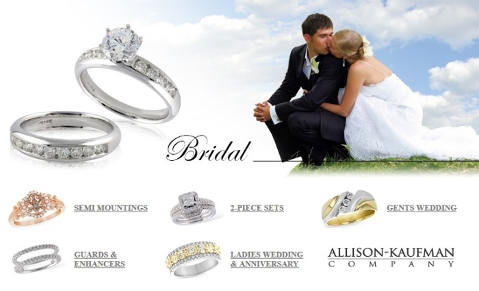 Allison-Kaufman bridal rings