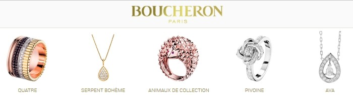 Boucheron jewelry - rings, pendants