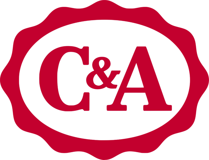 C&A logo, logotype, red