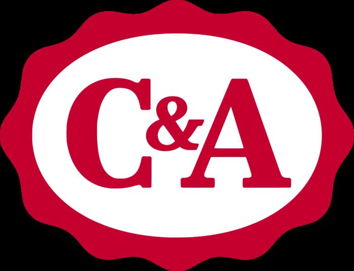 C&A logo, logotype, red