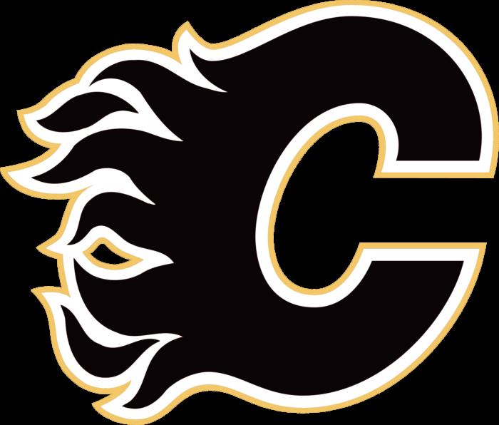 Calgary Flames logo, black