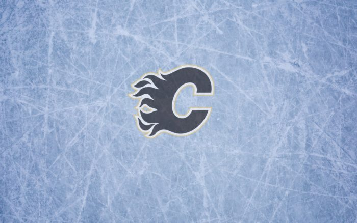 Calgary Flames wallpaper with ice and logo on it 1920x1200, widescreen 16x10