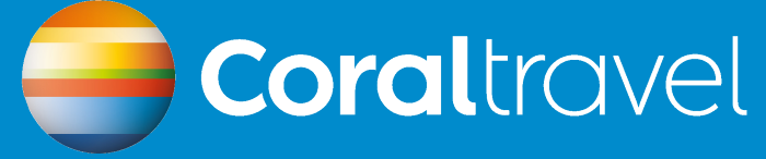 Coral Travel logotype, blue
