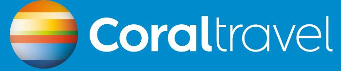 Coral Travel logotype, blue