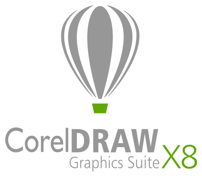 CorelDraw logo (Graphics Suite X8) emblem, 2