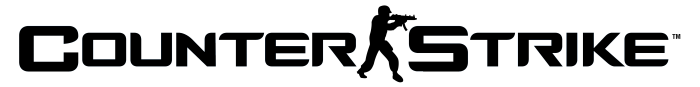 Counter-Strike logo, logotype, full black