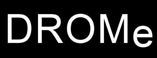 DROMe logo, black